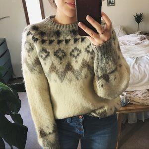 VINTAGE/ fair isle wool knit